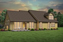 Craftsman Exterior - Rear Elevation Plan #48-956