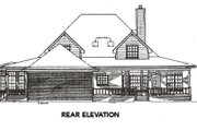 Farmhouse Style House Plan - 4 Beds 2.5 Baths 2817 Sq/Ft Plan #14-205 Exterior - Rear Elevation
