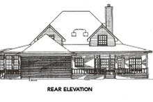 Farmhouse Exterior - Rear Elevation Plan #14-205