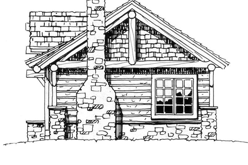 Cabin Exterior - Rear Elevation Plan #942-14 - Houseplans.com