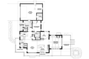 Prairie Style House Plan - 3 Beds 3 Baths 3219 Sq/Ft Plan #1042-18 Floor Plan - Main Floor