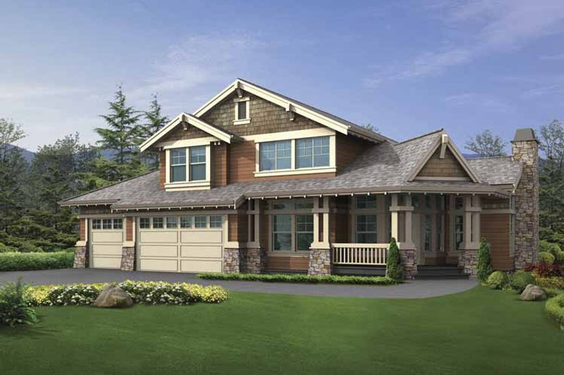 Craftsman Exterior - Front Elevation Plan #132-391