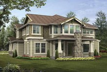 Craftsman Exterior - Rear Elevation Plan #132-495