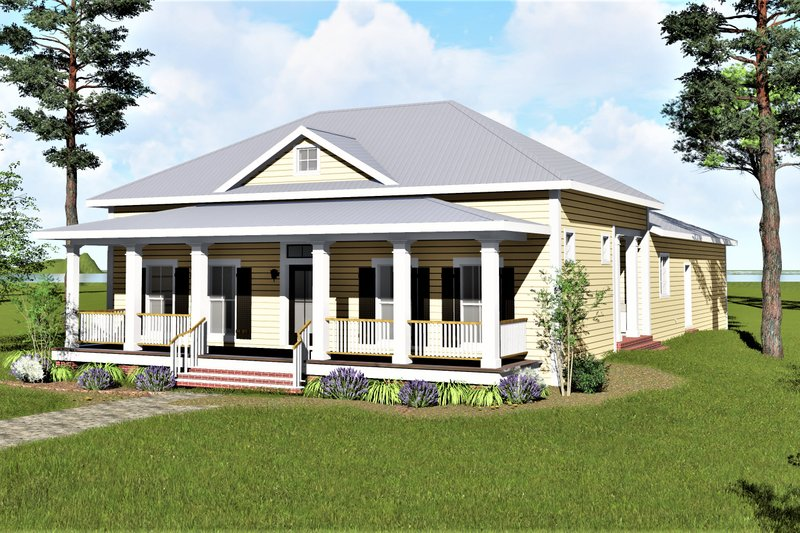 Architectural House Design - Traditional Exterior - Front Elevation Plan #44-251