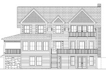 Colonial Exterior - Rear Elevation Plan #1061-6