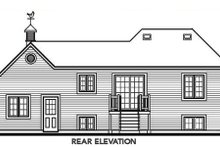 Home Plan - Traditional Exterior - Rear Elevation Plan #23-311