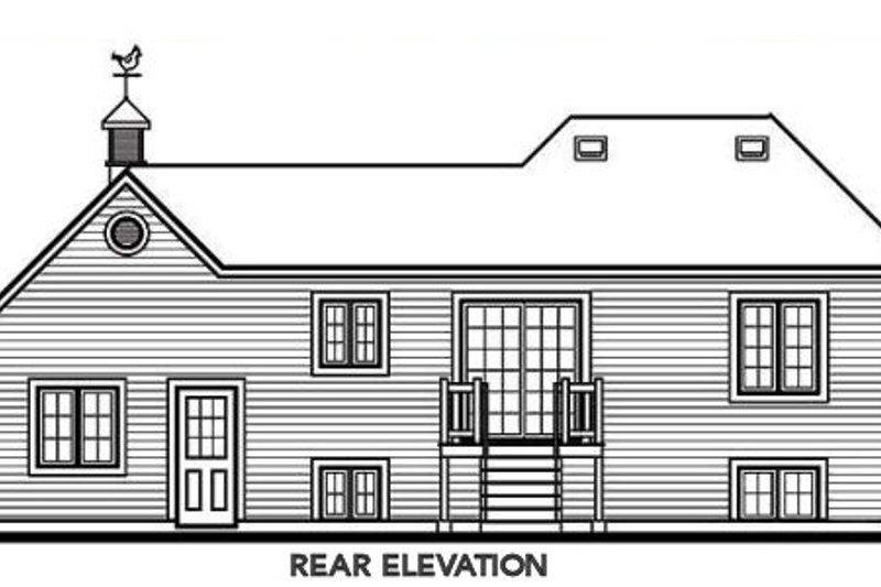 Traditional Exterior - Rear Elevation Plan #23-311 - Houseplans.com