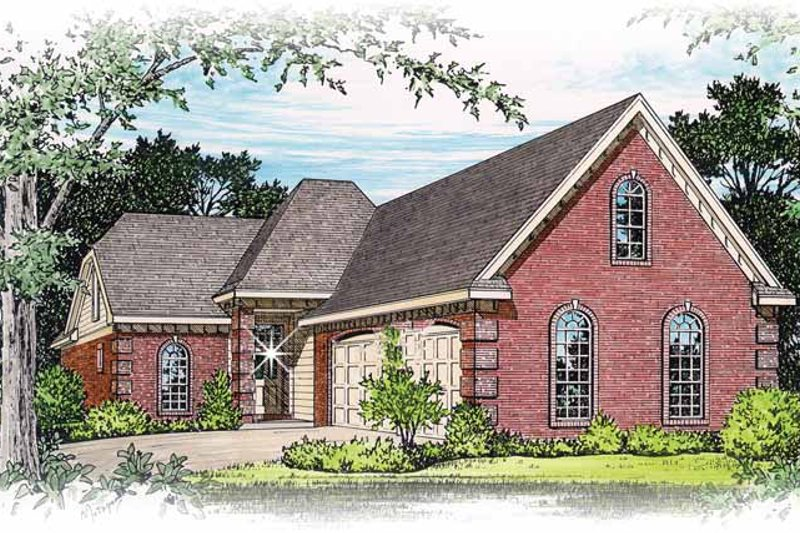 Home Plan - Traditional Exterior - Front Elevation Plan #15-297