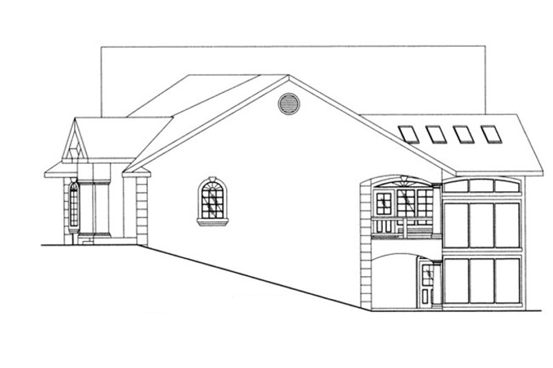 Traditional Exterior - Other Elevation Plan #117-831 - Houseplans.com