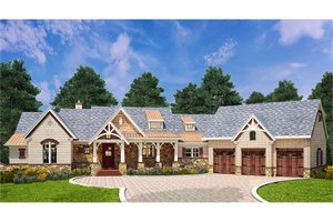 Architectural House Design - Craftsman Exterior - Front Elevation Plan #119-426
