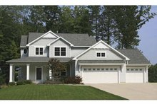 Architectural House Design - Country Exterior - Front Elevation Plan #928-160
