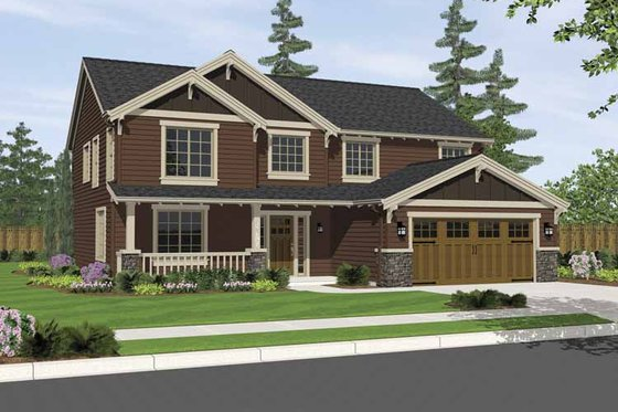 Craftsman Exterior - Front Elevation Plan #943-2