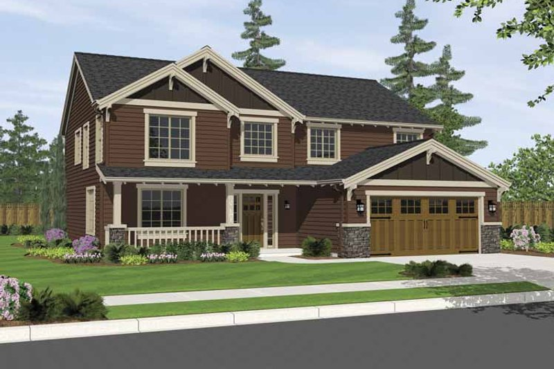 Craftsman Exterior - Front Elevation Plan #943-2 - Houseplans.com