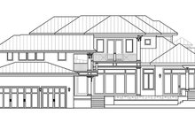 House Plan Design - Country Exterior - Rear Elevation Plan #1017-163