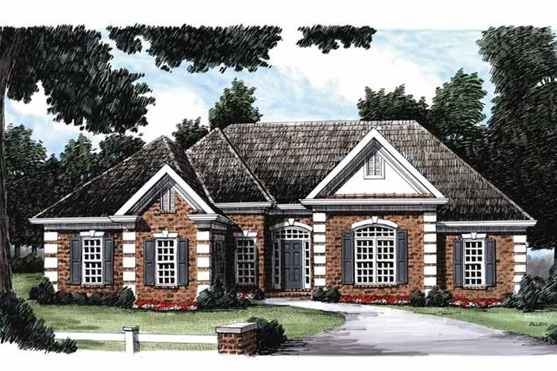 Traditional Exterior - Front Elevation Plan #927-66 - Houseplans.com