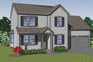 Farmhouse Exterior - Front Elevation Plan #459-5