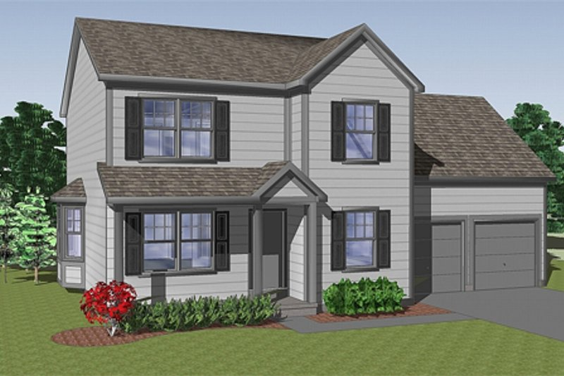 Farmhouse Style House Plan - 3 Beds 2 Baths 1605 Sq/Ft Plan #459-5 Exterior - Front Elevation