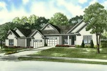 House Plan Design - Southern Exterior - Front Elevation Plan #17-2163