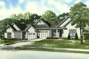 Southern Exterior - Front Elevation Plan #17-2163