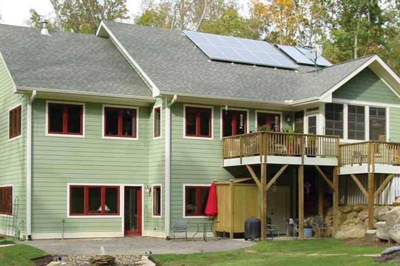Ranch Exterior - Rear Elevation Plan #939-13