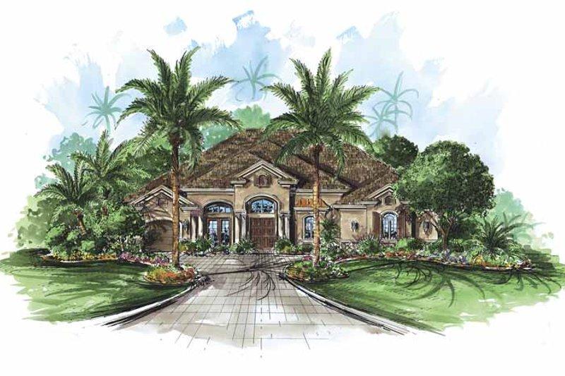 House Plan Design - Mediterranean Exterior - Front Elevation Plan #1017-62