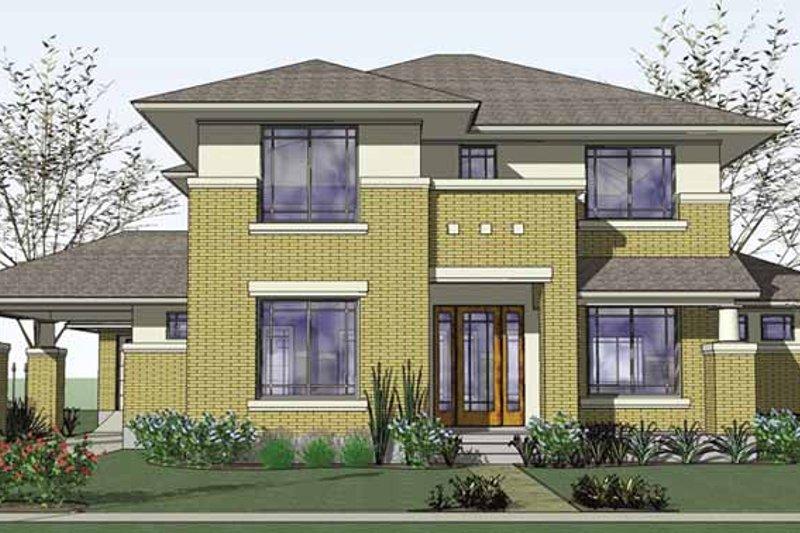 House Plan Design - Prairie Exterior - Front Elevation Plan #120-220