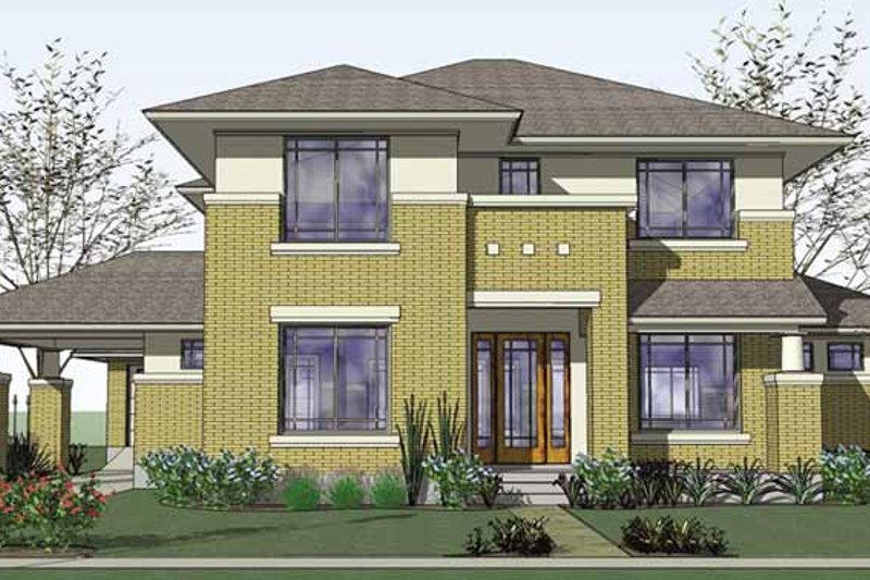 Home Plan - Prairie Exterior - Front Elevation Plan #120-220