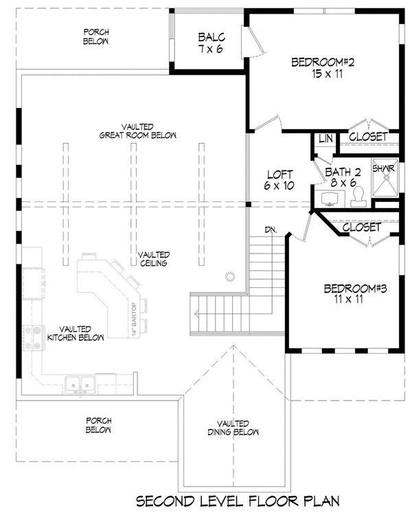 House Plan Design - Cabin Floor Plan - Upper Floor Plan #932-344