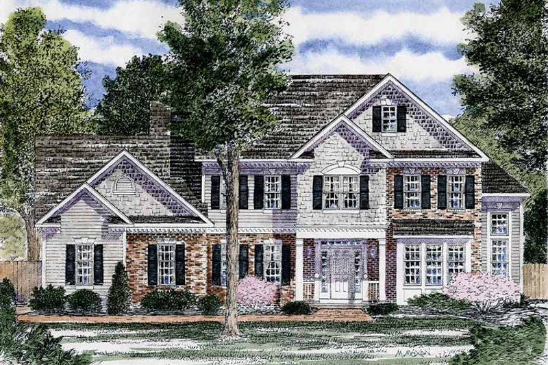 Colonial Exterior - Front Elevation Plan #316-235 - Houseplans.com