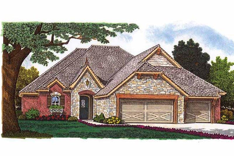 Dream House Plan - European Exterior - Front Elevation Plan #310-1240