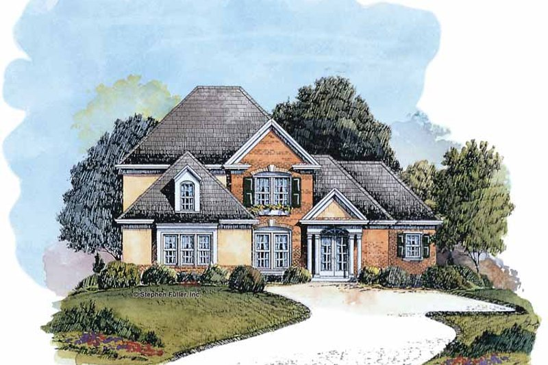 Traditional Exterior - Front Elevation Plan #429-232 - Houseplans.com