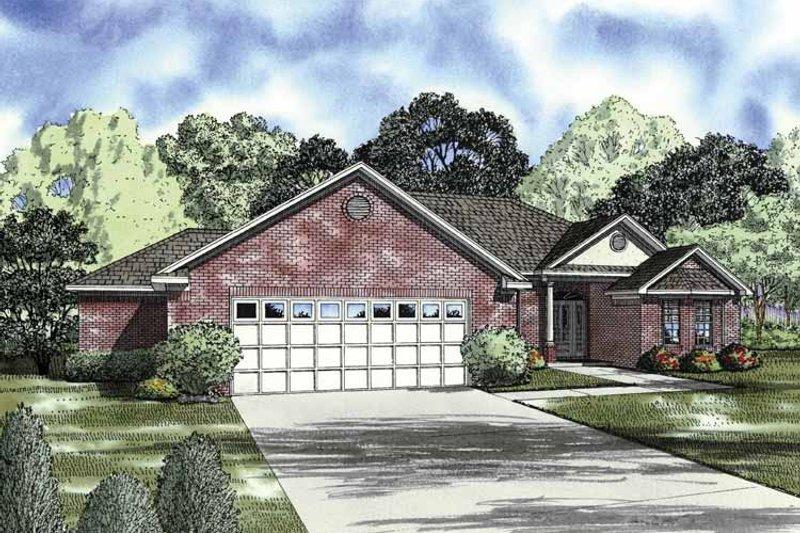 Ranch Exterior - Front Elevation Plan #17-2850 - Houseplans.com