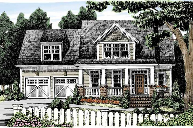 Craftsman Exterior - Front Elevation Plan #927-887