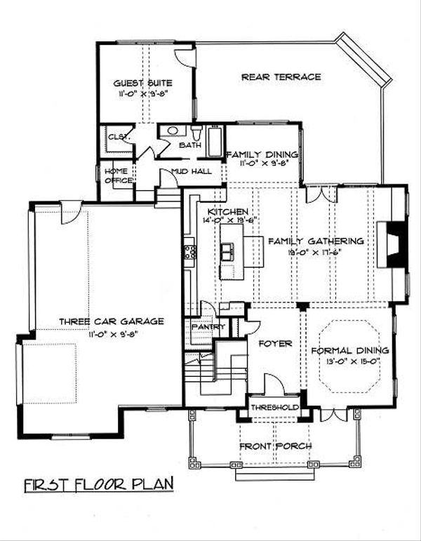 Victorian Floor Plan - Main Floor Plan Plan #413-142