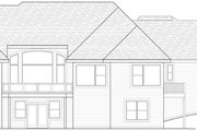 Country Style House Plan - 4 Beds 3.5 Baths 4790 Sq/Ft Plan #51-458 Exterior - Rear Elevation
