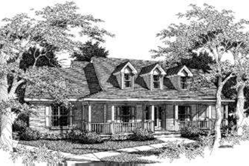 Country Style House Plan - 5 Beds 3 Baths 2340 Sq/Ft Plan #329-102 Exterior - Front Elevation