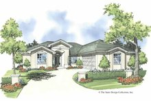 House Plan Design - Mediterranean Exterior - Front Elevation Plan #930-375