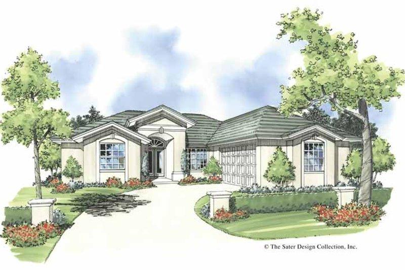 House Plan Design - Mediterranean Exterior - Front Elevation Plan #930-375
