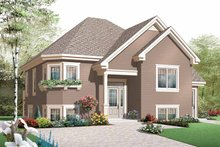 Home Plan - Contemporary Exterior - Front Elevation Plan #23-2438
