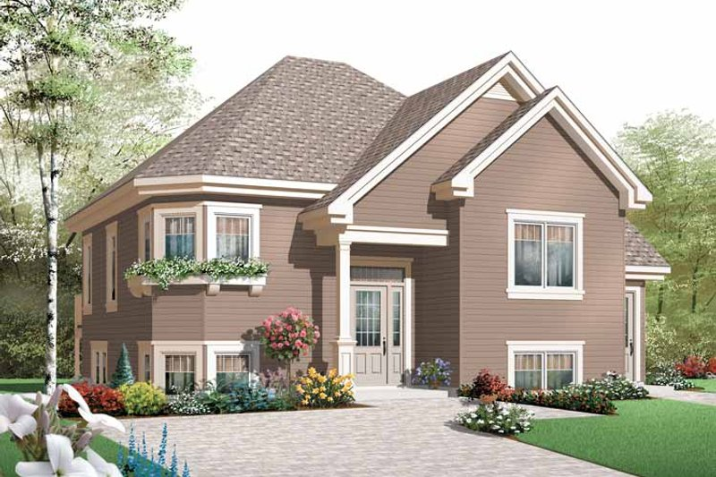 Dream House Plan - Contemporary Exterior - Front Elevation Plan #23-2438