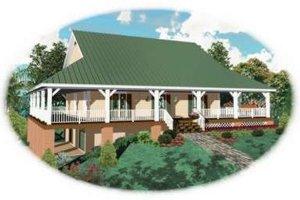 Farmhouse Exterior - Front Elevation Plan #81-736