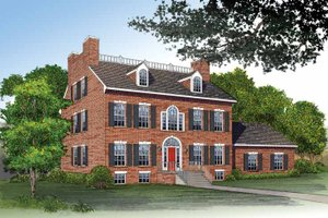 House Plan Design - Classical Exterior - Front Elevation Plan #72-805