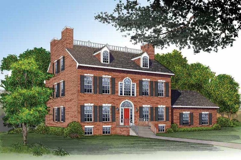 Classical Exterior - Front Elevation Plan #72-805