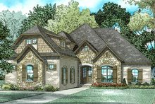 European Exterior - Front Elevation Plan #17-3387
