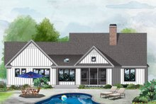 Farmhouse Exterior - Rear Elevation Plan #929-1053