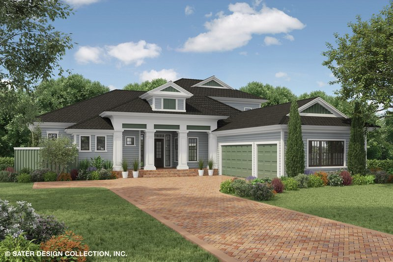 Architectural House Design - Country Exterior - Front Elevation Plan #930-474