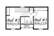 Traditional Style House Plan - 2 Beds 2 Baths 892 Sq/Ft Plan #509-16 Floor Plan - Upper Floor Plan