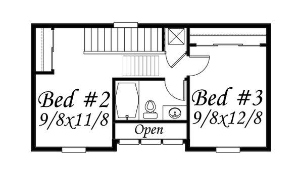 Traditional Floor Plan - Upper Floor Plan Plan #509-16