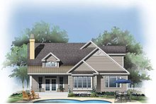 Country Exterior - Rear Elevation Plan #929-784