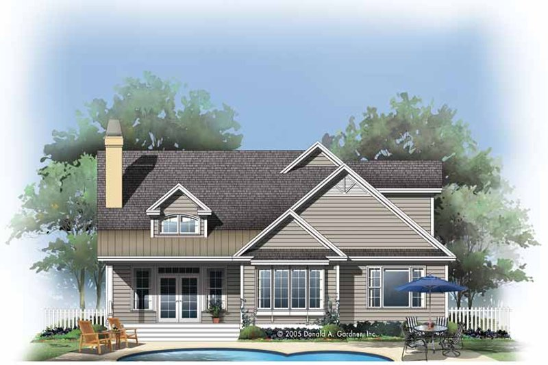 Country Exterior - Rear Elevation Plan #929-784 - Houseplans.com